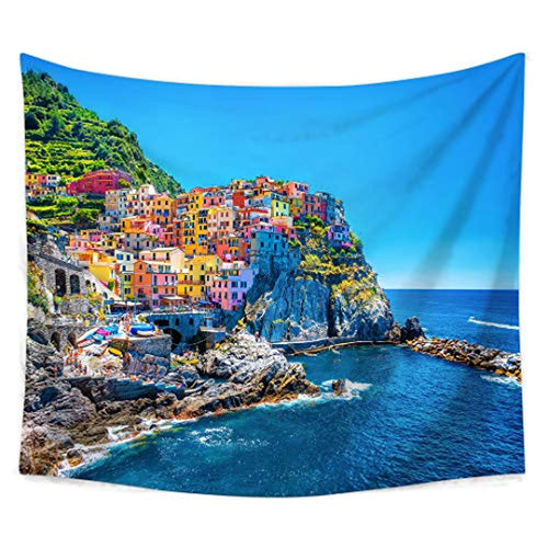 City And Nature Landscape Tapestry