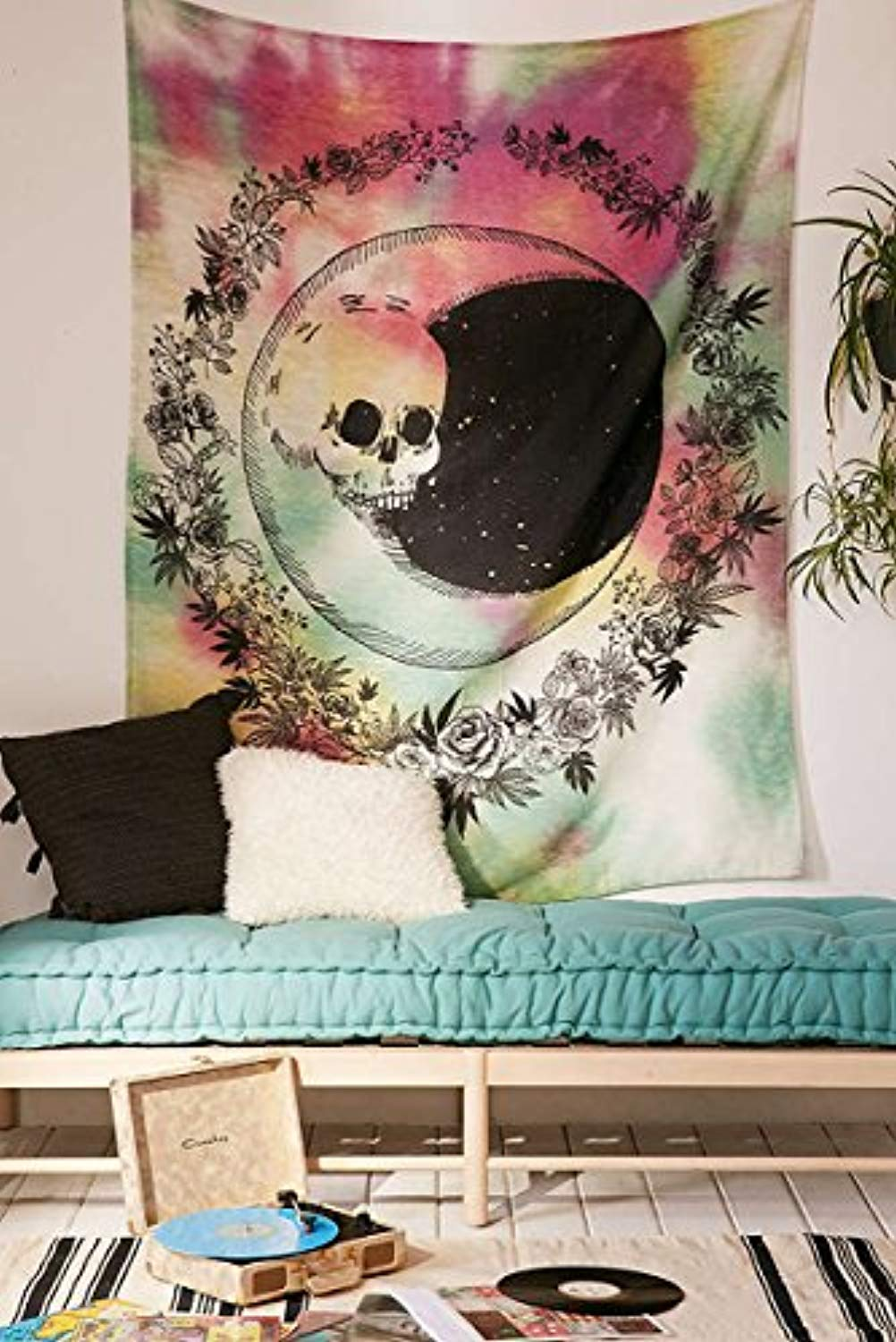 Skull Moon Décor Tapestry