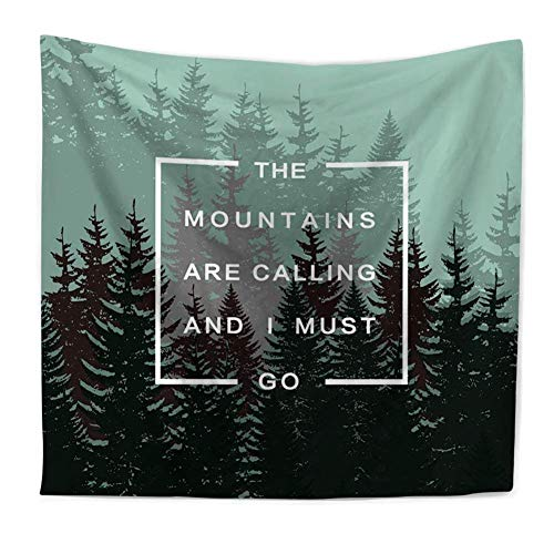 Mountains Quote Tapestry