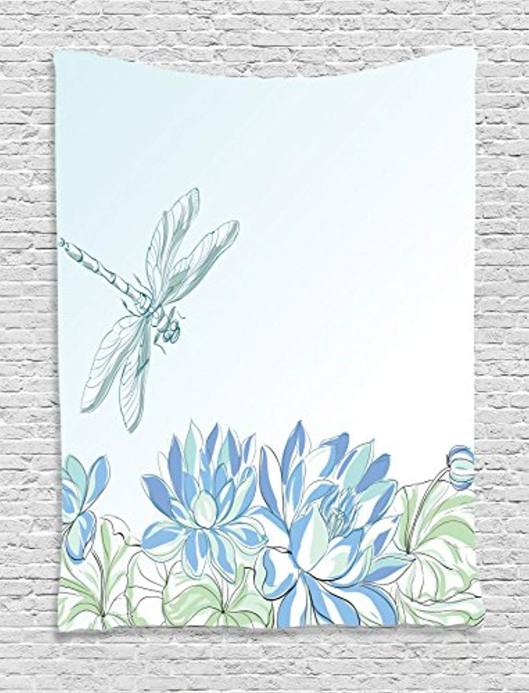 Dragonfly And Water Lillie's Décor Tapestry