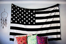 Black And White Stripes And Stars Tapestry