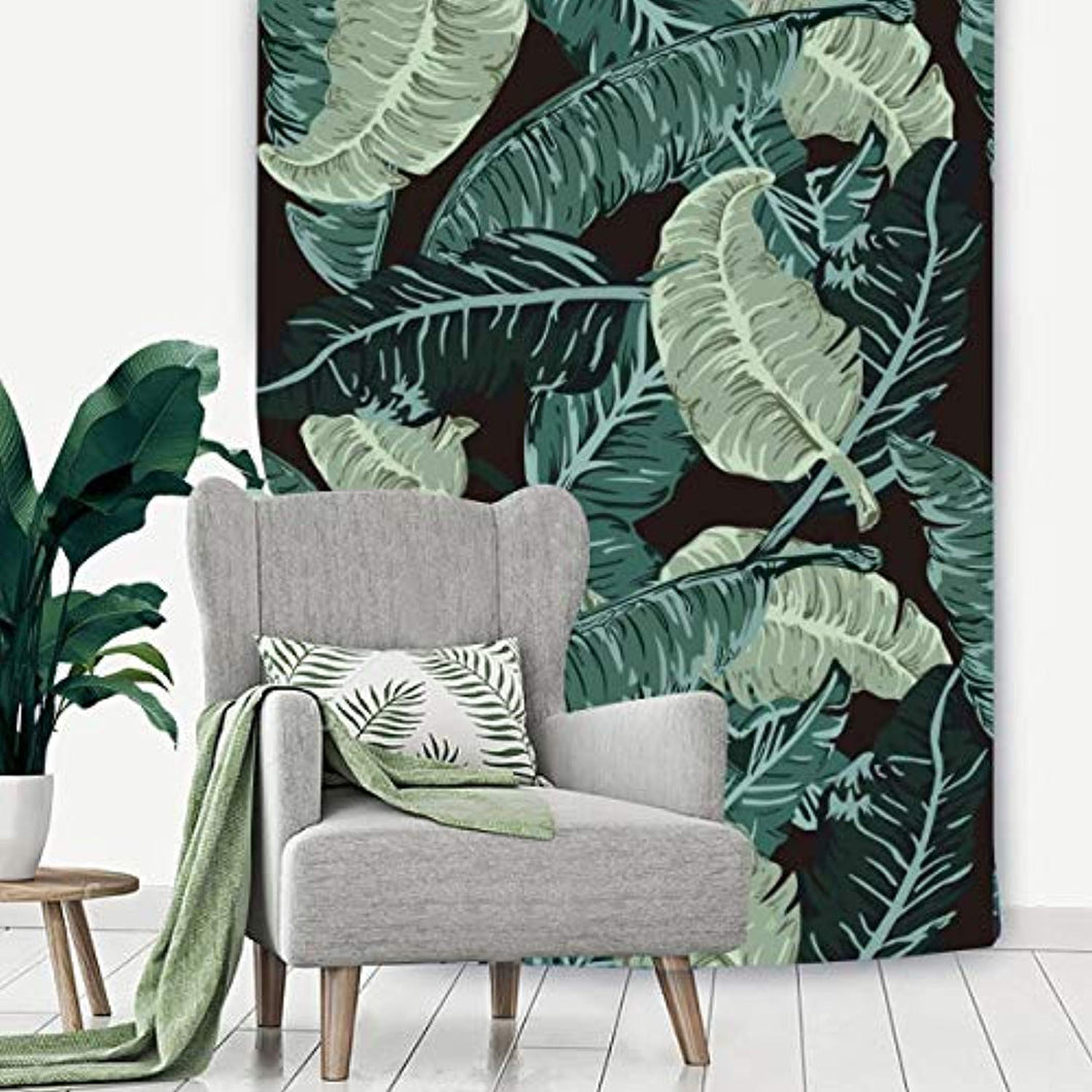 Green Leaves Décor Tapestry