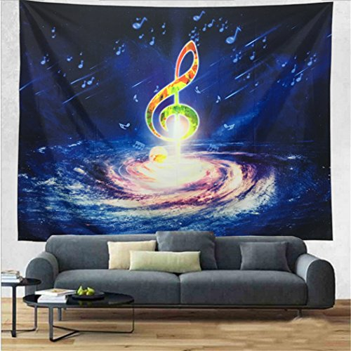 Colourful And Vibrant Musical Note Tapestry