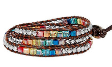 Leather Wrap Crystal Bracelet