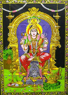 Indian Goddess Mariamman Décor Tapestry