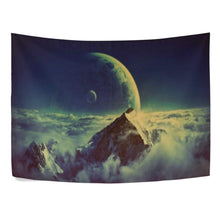 Mountains And Moon Décor Tapestry