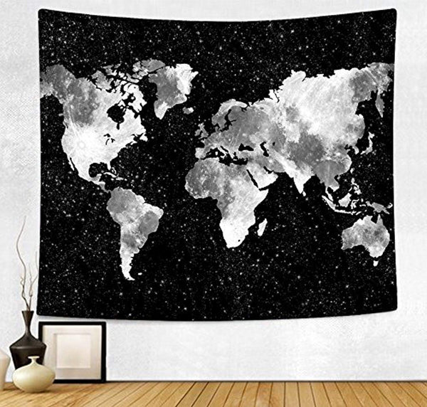 World Map Décor Tapestry