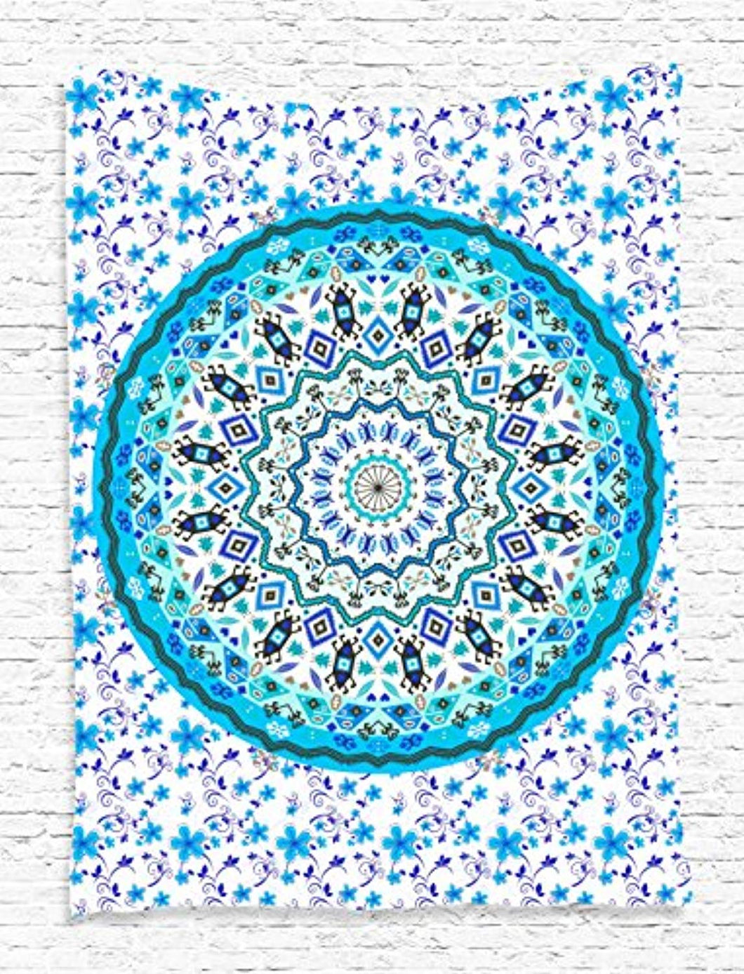 Beautiful Blue Mandala Décor Tapestry