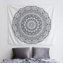 Black And White Mandala Décor Tapestry