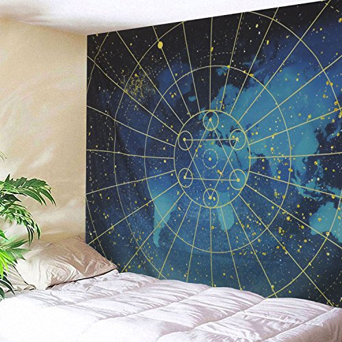 Galaxy Star Sacred Geometry Tapestry