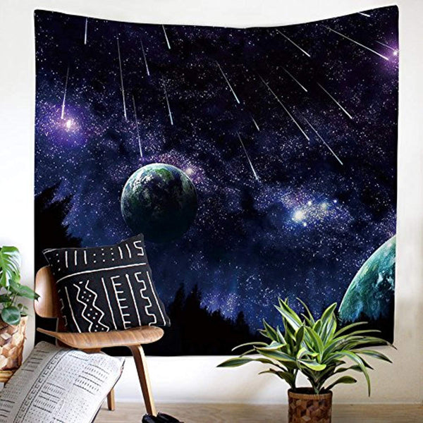 Beautiful Meteor Shower Décor Tapestry