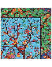 Bohemian Intricate Floral Pattern Tree Of Life Tapestry
