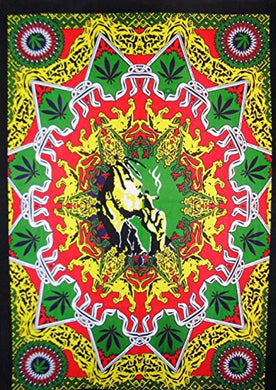 Hippie Smoking Marijuana Décor Tapestry