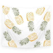 "Fresh Pineapple Printed Wall Art Hanging Tapestry Dorm Decor (51""H x 60""W,Pineapple)"