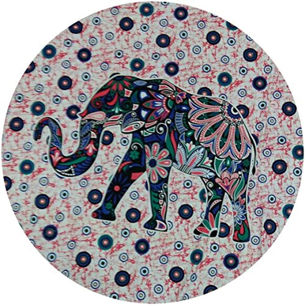 Classical Chromatic Elephant Print Roundy