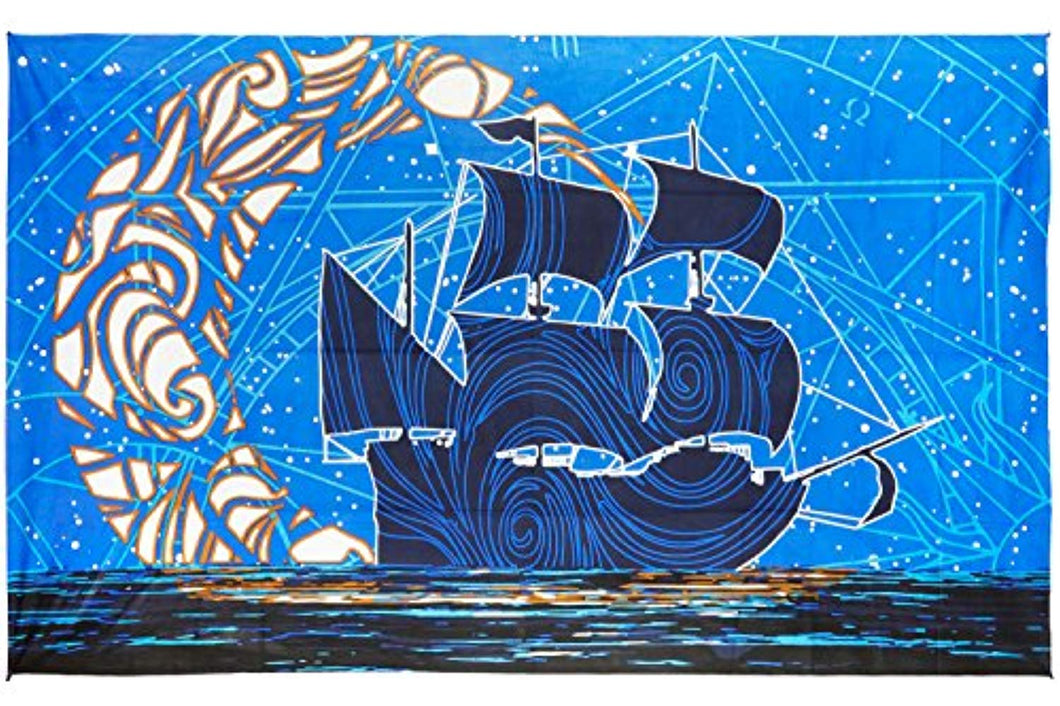 Night Ship Décor Tapestry