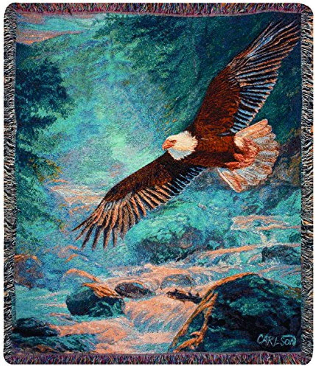 Eagle Flying Over Grand Canyon Décor Tapestry