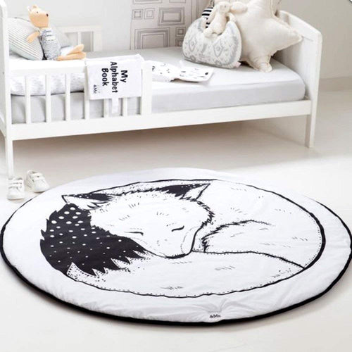 Baby Fox Mountain Backdrop Rug