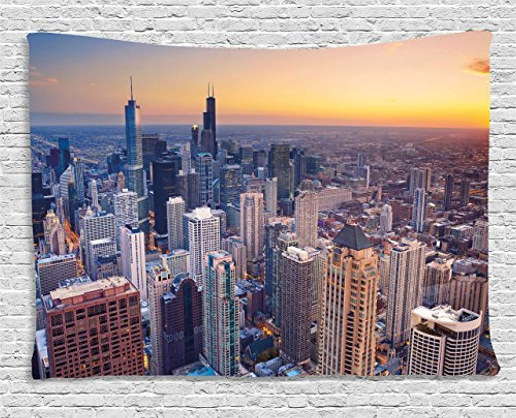 Chicago Skyline Décor Tapestry