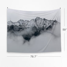 Snow Mountain Tapestry Wall Hanging Fabric Modern Nordic Style Decor Photo Poster 59''x78.7'' (Snow Mountain)