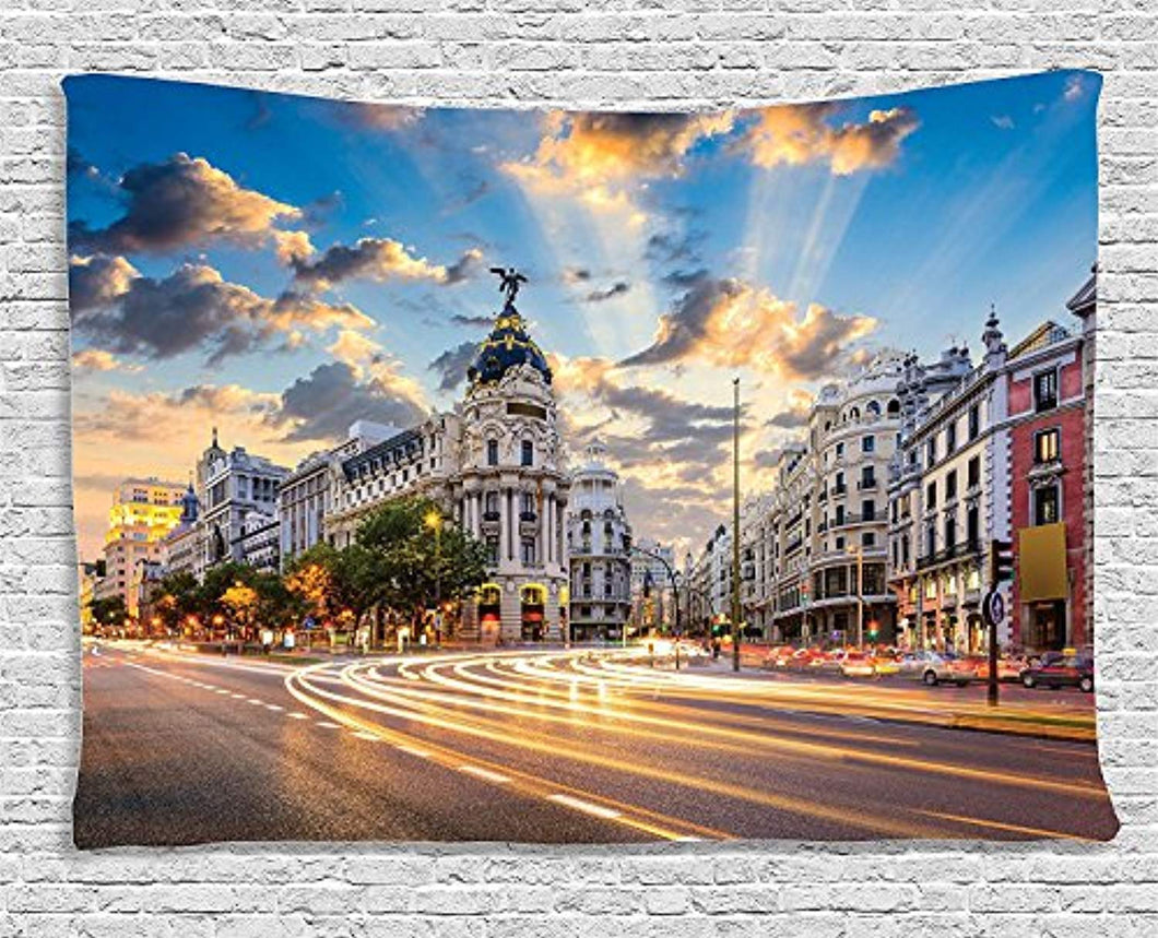 Madrid Town Décor Tapestry