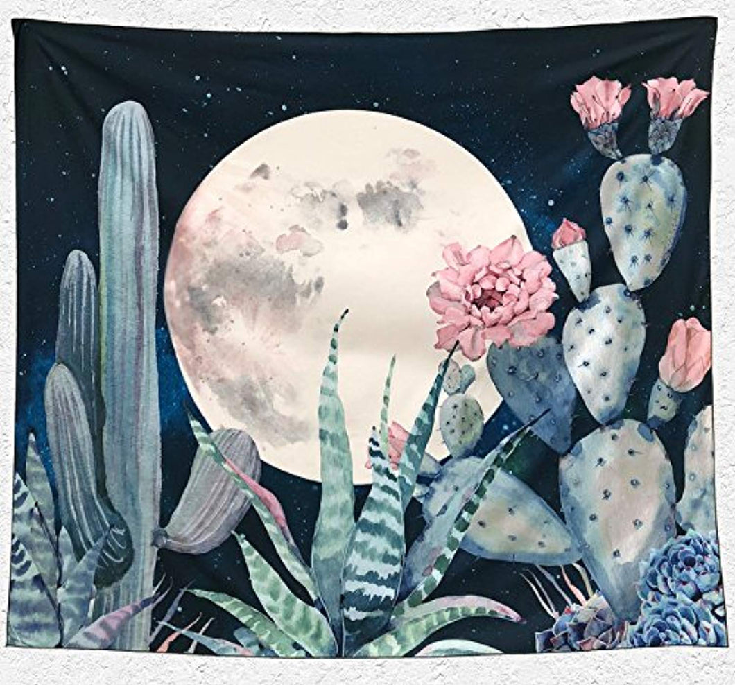 Beautiful Cactus Décor Tapestry