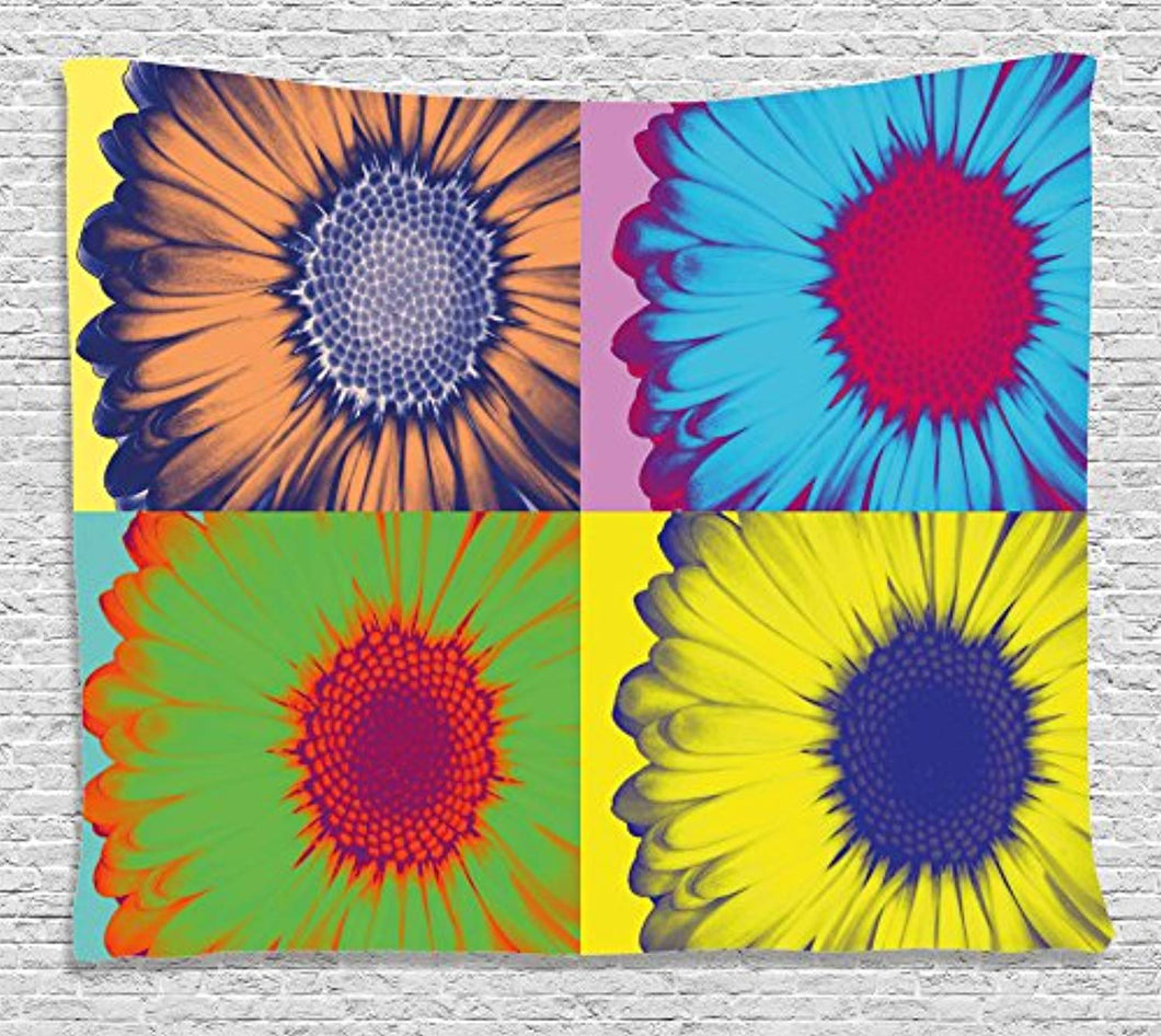 Pop Art Floral Décor Tapestry