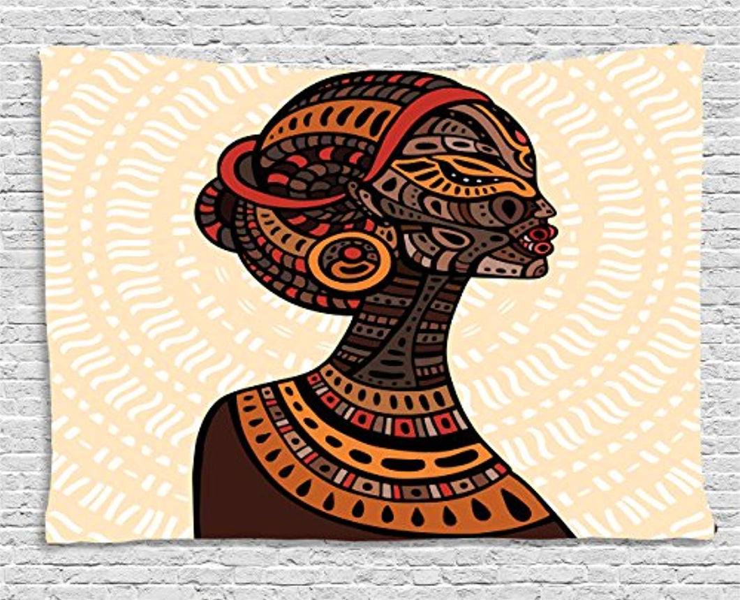 African Woman Décor Tapestry