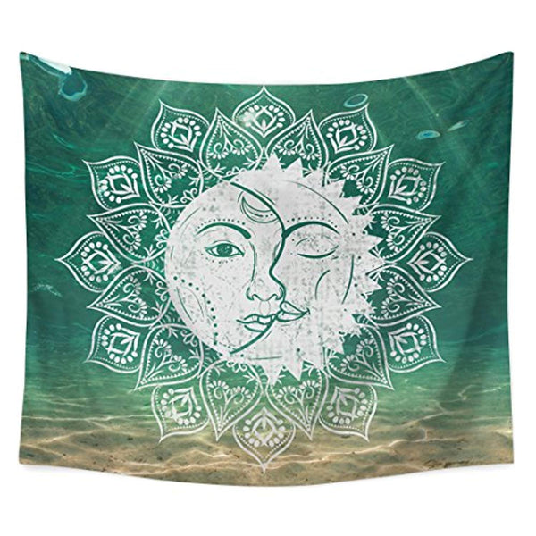 Hippie Sun Moon Décor Tapestry