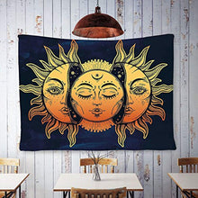 Ethnic Sun And Moon Psychedelic Tapestry