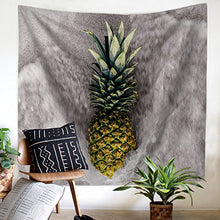 Fresh Pineapple Print Tapestry