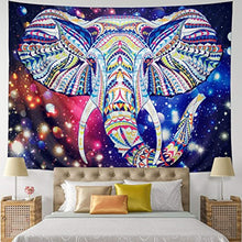 Elephant Head In Mandala Décor Tapestry