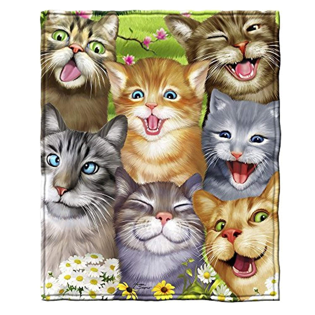Funny Cat Selfie Décor Tapestry