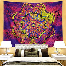 Colourful Mandala Burst Tapestry