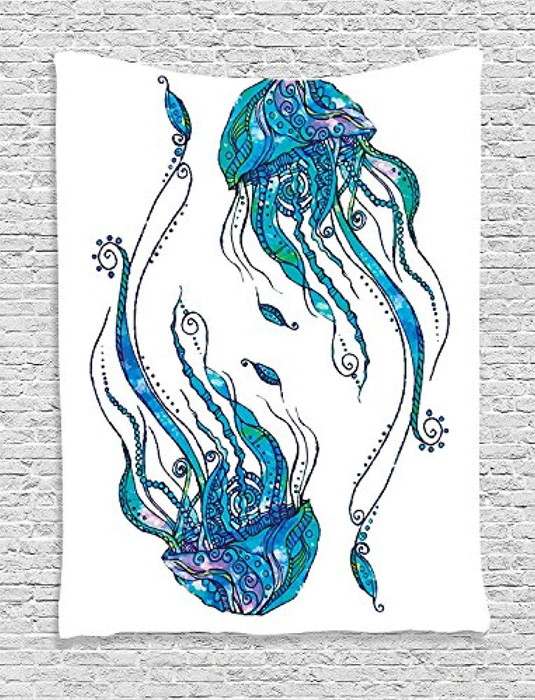 Jelly Fish Décor Tapestry