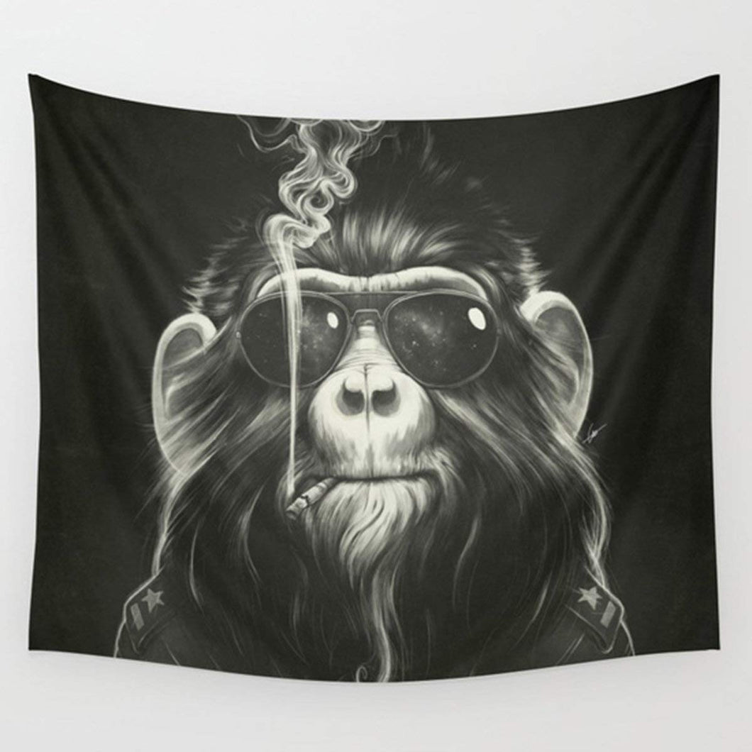 Monkey Smoking Décor Tapestry