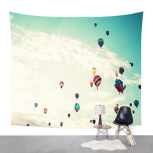 Colourful Hot Air Balloons In The Sky Tapestry