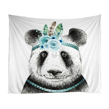 Adorable Panda Bears Playing Tapestry