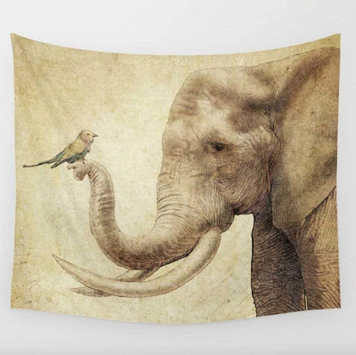 Trippy Elephant Tapestry