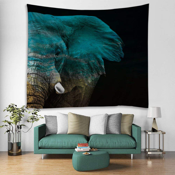 Massive Elephant Face Tapestry
