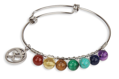 New! Chakra Stone Genuine Crystal Bracelet for Women | Collection (Brown)