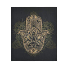 Black And Gold Hamsa Hand Tapestry