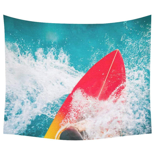 Surfboard Seaside Waves Tapestry