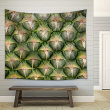 Pineapple Skin Close Up - Fabric Wall Tapestry Home Decor - 51x60 inches