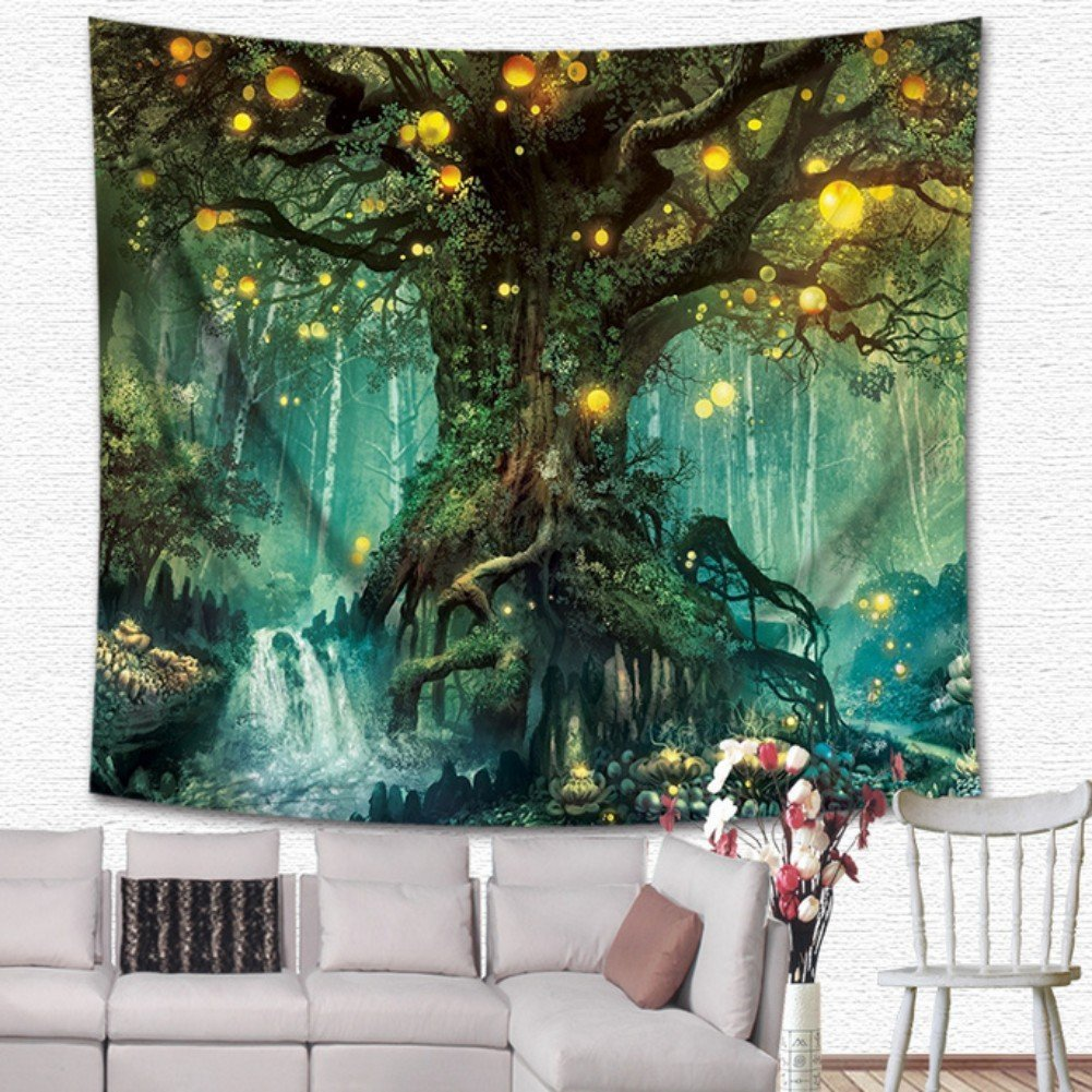 Beautiful Magical Tree Of Life Tapestry