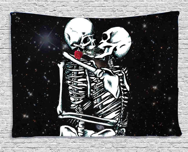 Skeletons Hugging Tapestry