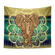 Elephant And Mandala Tapestry
