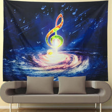 Music Tapestry Wall Tapestry Wall Hanging Music Notes Wall Tapestries Bohemian Psychedelic Tapestry Galaxy Sky Space Milky Way Music Wall Art Tapestry For Bedroom Home Decor