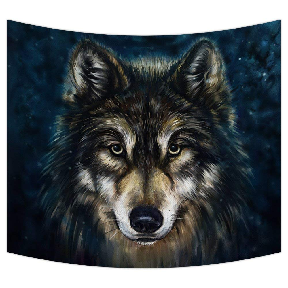 Lone Wolf Décor Tapestry