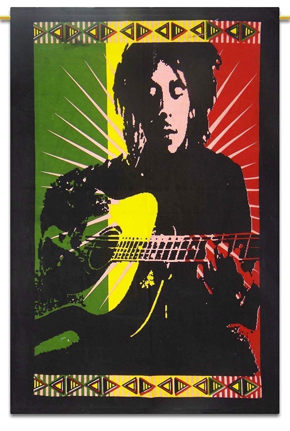 Bob Marley Playing The Guitar Tapestry